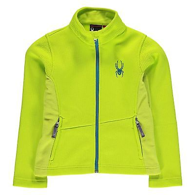 Spyder Kids Endure Full Zip Girls Thermal Baselayer Sports Long Sleeve