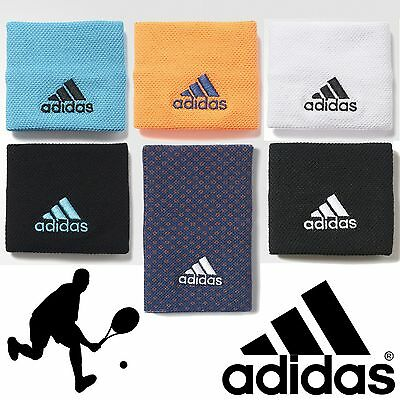 adidas Tennis Wristbands Orange Black White Samba Sports Gym Unisex Sweatband