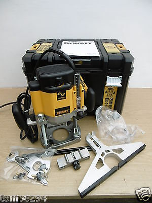 "New Dewalt Dw625Ekt 2000W Plunge Router 110V + Ss11 1/2"" Cutter Set In Tstak"