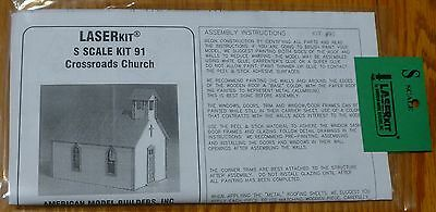 "American Model Builders, Inc S #91 Crossroads Church -- 5-1/2 x 3 x 4-1/2"" 13.7"