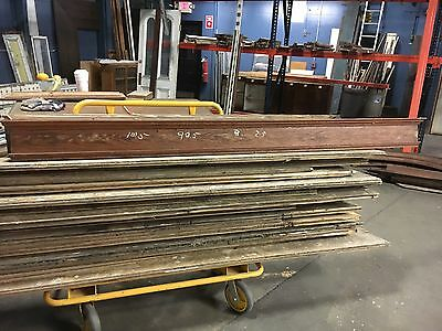 "c1890 VICTORIAN OAK window DOOR header pediment crown MOLDING 101"" x 8"" x 2.5"""