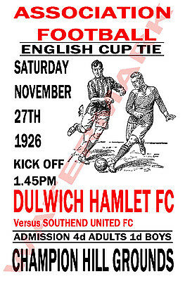 Dulwich Hamlet - Vintage Football Poster POSTCARDS - Choose from list