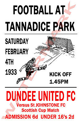 Dundee United - Vintage Football Poster POSTCARDS - Choose from list