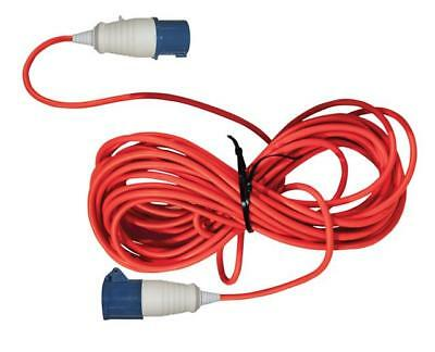 25 Meter Caravan Hook Up Extension Lead Cable 16A 240V Mains 3 Pin Plug & Socket