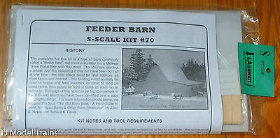 "American Model Builders, Inc S #70 Feeder Barn -- 10 x 6-1/2 x 5""  (Laser Kit)"