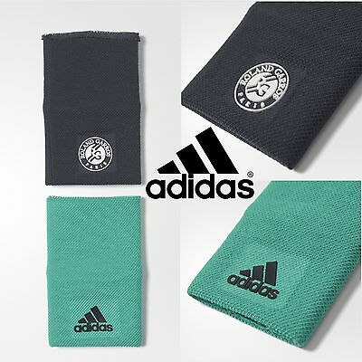 adidas French Open Mens Tennis Wristbands Rolland Garros Sweatbands Green Black