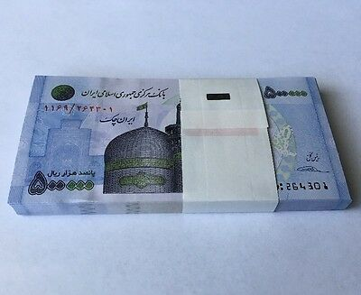 Persia Iran 500,000 RIALS Uncirculated Banknote 1/2 Million Note
