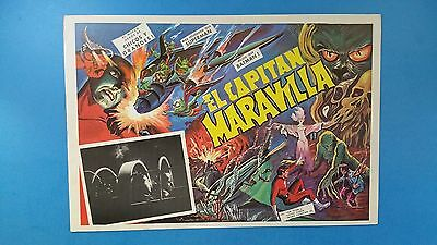 Rare Vintage Original CAPTAIN MARVEL(1941) Mexican Lobby Card