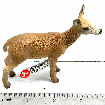 "Schleich #14630 Red Deer Cow Figurine 3 5/8"" Long Germany Wild Animal Wildlife"