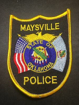 Maysville Oklahoma  Police  Shoulder Patch   Old
