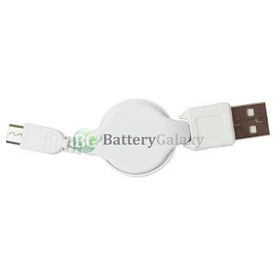 20 Micro USB Retract Battery Charger Data Cable Cord for Android Cell Phone