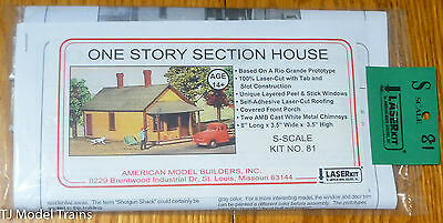 American Model Builders, Inc S #81 One Story Section House (Laser Wood Kit)