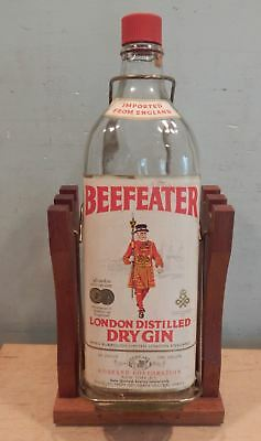 Vintage One Gallon Beefeater London Dry Gin Bottle With Tilt Stand
