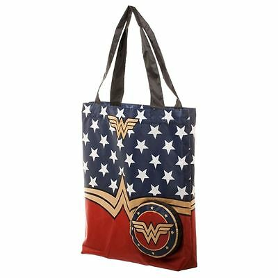 Officially Licensed DC Comics Wonder Woman Logo Packable Tote Bag