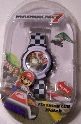 Super Mario Kart 7 Flashing LCD Watch GIFT! Mario & Bowser Video Game Character