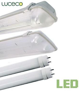 Luceco Led Non Corrosive Light Fitting Single Or Twin Weatherproof 2Ft-5Ft