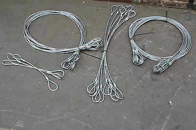 Job Lot of 27x New SWL 400KG Wire Rope Slings 3x 0.5m, 8x 1m, 8x 2m, 8x 3m