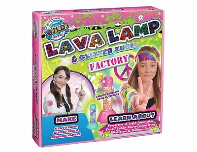 """NEW Wild Science """"WILD! Science Lava Lamp and Glitter Tube Lab"""" Toy"""