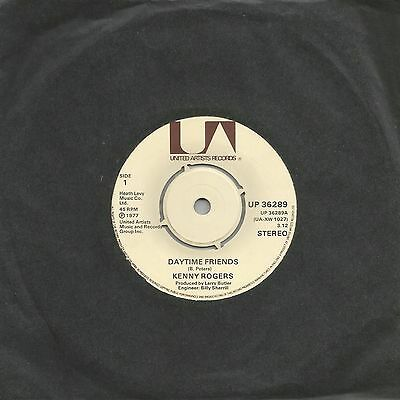 """Kenny Rogers - Daytime Friends (United Artists Up 36289) Uk 1977 7"""" Single Ex"""