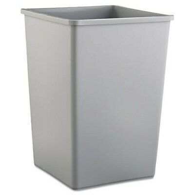 Rubbermaid 35-Gal. Plastic Waste Container (Gray) 3958GRA NEW