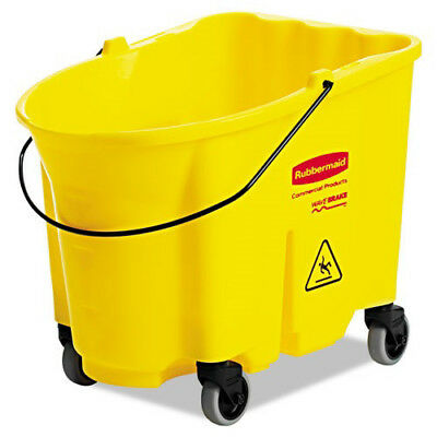 Rubbermaid WaveBrake 8-3/4 Gal. Bucket (Yellow) 757088YEL NEW