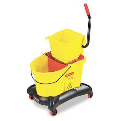 Rubbermaid WaveBrake 35Qt Dual Water Side-Press Mop Bucket/Wringer 768000YW NEW