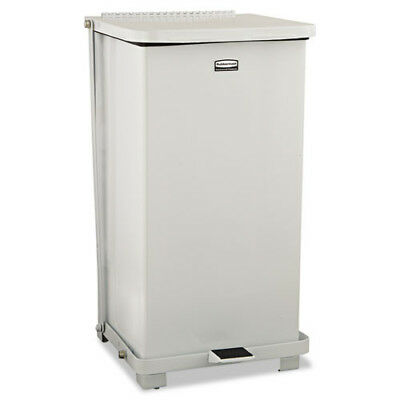 Rubbermaid 12 Gal. Biohazard Heavy-Duty Step Can (White) ST12ERBWHI NEW