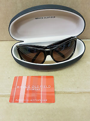 (pa2) Designer BRUCE OLDFIELD Brown Sunglasses with case and certificate