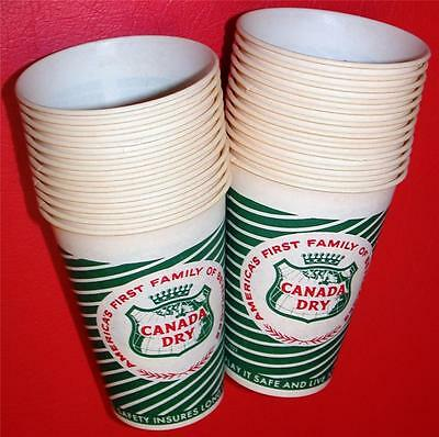 24 Vintage 1950's 1960's Dixie CANADA DRY BEVERAGES SODA CUPS Store Stock NOS !!