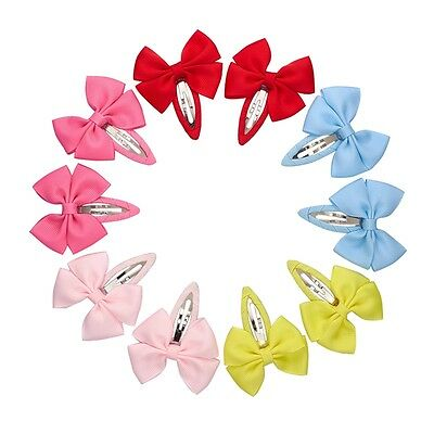 10pcs Candy Baby Girls Children Kid Hair snap clips bendies sleepies slides