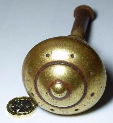 Large Quality Antique Arts & Crafts Brass Door Centre Knob Handle