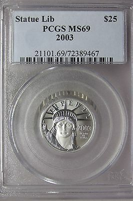 2003 1/4 oz $25 Platinum American Eagle PCGS MS-69 Statue of Liberty Coin