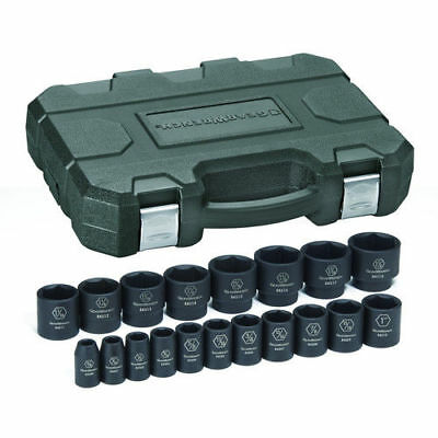 """GearWrench 19-Pc SAE 1/2"""" Dr Impact Socket Set 84932N New"""