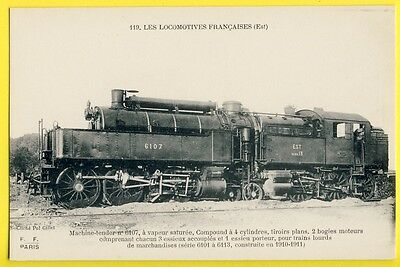 cpa FRENCH LOCOMOTIVE for heavy freight TRAINS built in 1910 Chemin de Fer Rail