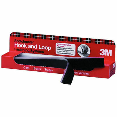 """3M Scotchmate Hook and Loop Fastening System 1"""" x 12"""" (12-Pk) 6480 new"""