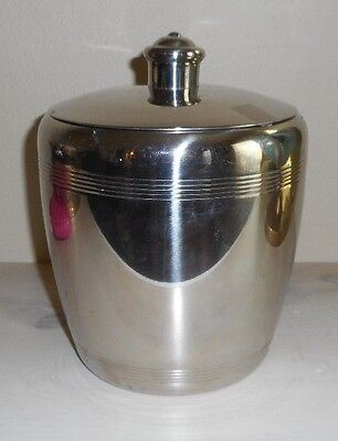 Hampton Forge 18/10 Stainless Steel Ice Bucket w Lid