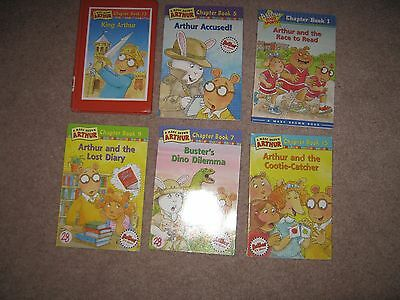 Lot of 6 Arthur Chapter Books Marc Brown 1 5 7 9 13 15 RL3 Accelerated Reader AR