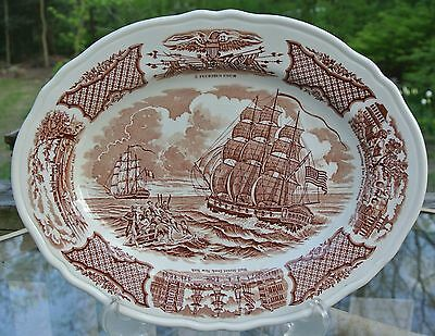 "Alfred Meakin Staffordshire China Fair Winds 12-3/4"" Serving Plate"