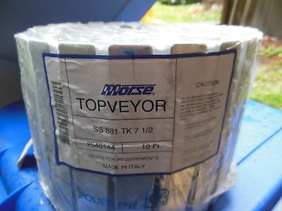 Morse Topveyor SS 881 TK 7-1/2 10ft  2540144 tabletop conveyor