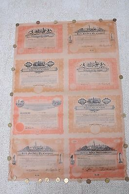 Lot of 8 Oil Company Stock Certificate