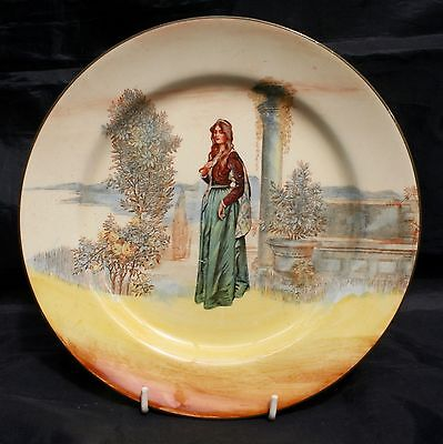 Royal Doulton England Collector Shakespeare Series Juliet Plate 22cm D3596