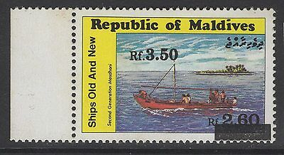 MALDIVE ISLANDS SG1533a 1991 3r50 on 2r60 SURCHARGE MNH