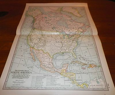 1911 North America The Century Atlas Map No. 4