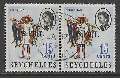 BRITISH INDIAN OCEAN TERR SG3/b 1968 15c DEFINITIVE NO STOP AFTER O FINE USED