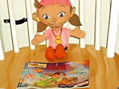 "13"" Jake And The Never Land Pirates IZZY Doll Stuffed Figure Plush Disney Girl"