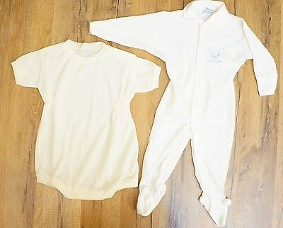 Lot of 2  1940s Vintage Baby Rompers- Blue Bird Knitwear & Princeton Uppity Togs