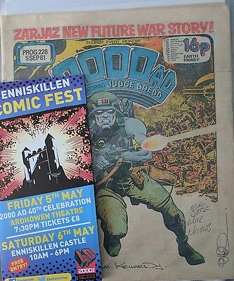 2000ad #228 first app Rogue Trooper **Signed ×3 Kennedy MacManus Pj Holden**