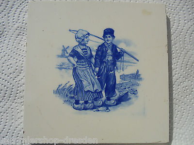 27342 Kachel Holländer Frau Fischer SOMAG Fliese tile very good Teichert