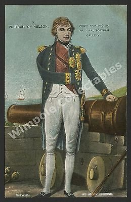 Lord Nelson, c1905, Portrait of Nelson, H Edridge. Star Series, Postcard. (3253)