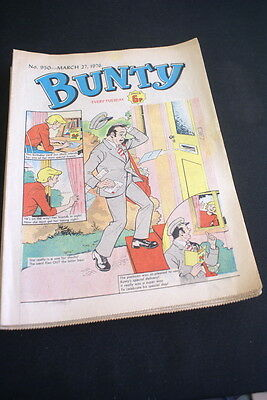 BUNTY Comic For Girls No. 950. March 27 1976. small stain on back cover